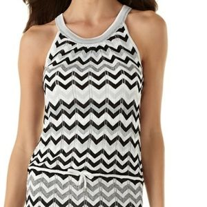 WHBM Chevron Stripe Chemise Sweater Dress